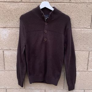 NWT Casuals Brown Button Knit Men's Sweater